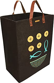 Loaves & Fishes Jute Bag - Large Size - Market Bag Grocery Bag Shopping Tote