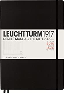 Leuchtturm1917 Master A4 Plus 2020 Academic Weekly Planner- 18 Months, 144 Pages, Black