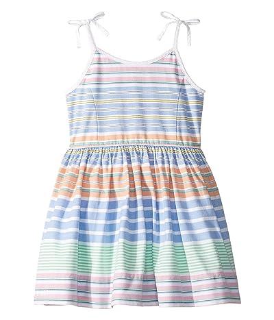 Polo Ralph Lauren Kids Striped Cotton Oxford Dress (Toddler) (Blue/White Multi) Girl
