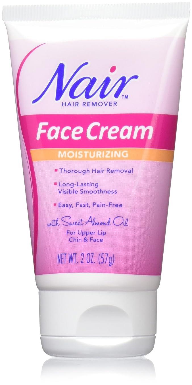 火山のお母さん出費海外直送肘 Nair Hair Removal Cream With Baby Oil For Face, 2 oz