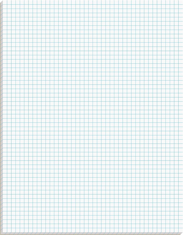 "New Ampad Quadrille//graph Pad 8.5/""x11/"" 50 SHEETS//PAD *E-2.3oc4* 10 PADS"