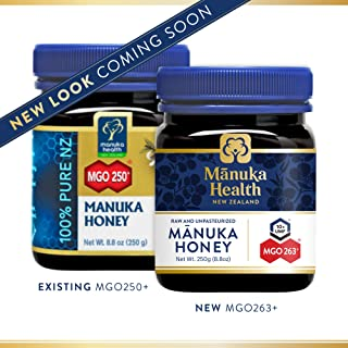 Manuka Health - MGO 250+ Manuka Honey, 100% Pure New Zealand Honey, 8.8 Ounce