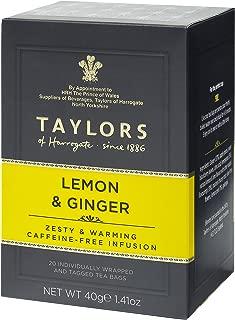 Taylors of Harrogate Lemon & Ginger Herbal Tea, 20 Count (Pack of 1)