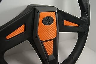 Polaris RZR 1000 Orange Carbon Fiber Steering Wheel Inlay Decal Kit Xp1k General