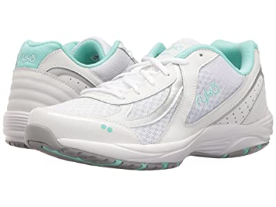 Ryka Dash 3 (White/Chrome Silver/Yucca Mint) Women