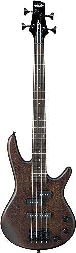 Ibanez 4 String Bass Guitar, Right, Walnut Flat (GSRM20BWNF)