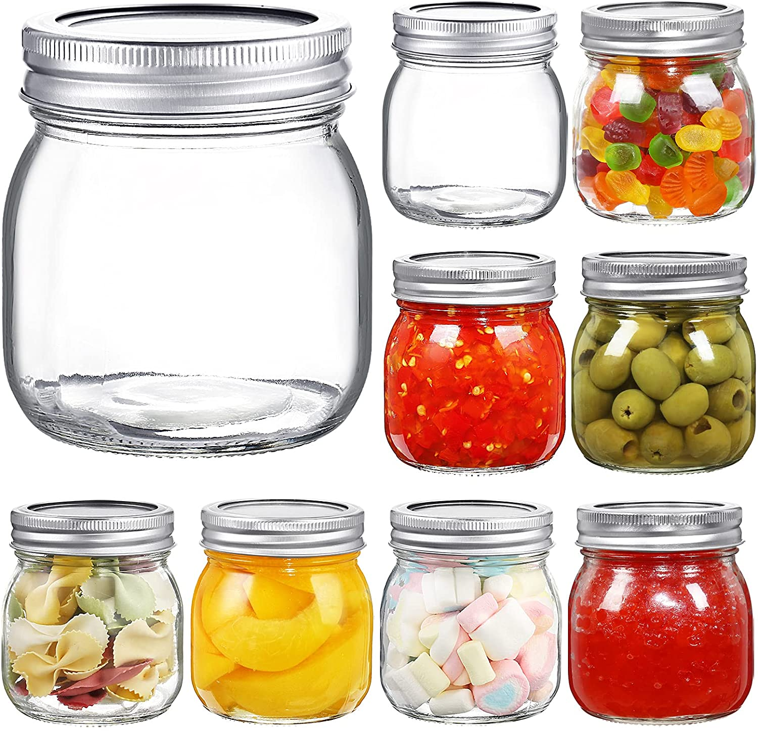 YEBODA 9 Mail order Pack Wide Mouth Mason 10 oz Glass wit Jars Max 78% OFF Canning