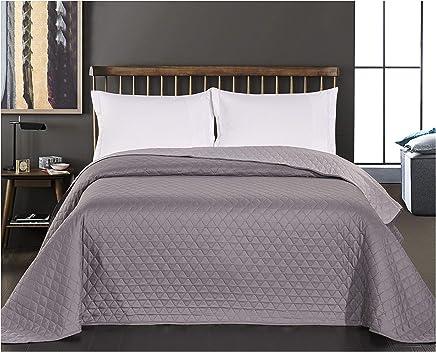 23099622f4 DecoKing 29732 Tagesdecke 220 x 240 stahl anthrazit grau silber  Bettüberwurf zweiseitig pflegeleicht steel silver grey