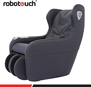 Robotouch Relaxo Massage Sofa with Foldable Footrest, (Black)