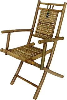 Foldable Bamboo Chair with Arm Rests