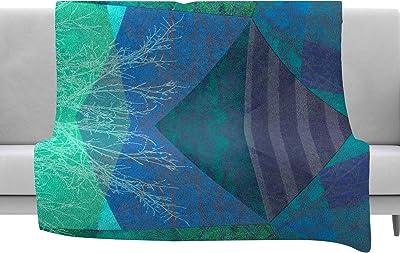 60 x 40 Fleece Blankets Kess InHouse Mmartabc Pastel Lines Multicolor Purple Painting Throw