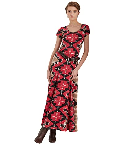 LAUREN Ralph Lauren Southwestern-Print Slub Jersey Maxi Dress