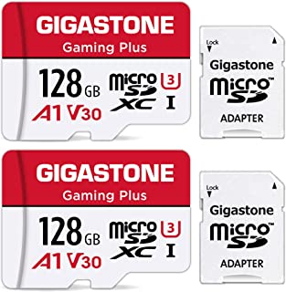 Gigastone Micro SD Card 128GB マイクロSDカード 128 GB 2pack 2個セット 2 SDアダプタ付 2 ミニ収納ケース付 SDXC A1 U1 C10 95MB/S 高速 メモリーカード Class 10 ...