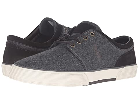 Latest Collections Mens Casual Shoes - Polo Ralph Lauren Faxon Low Grey Oval Mesh