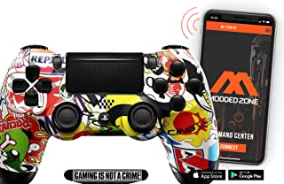 Sticker Bomb PS4 PRO Smart Rapid Fire Modded Controller Mods for FPS All Major Shooter Games Warzone & More (CUH-ZCT2U)