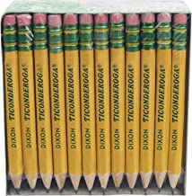 "Dixon Ticonderoga Company Golf Pencil, Ticonderoga, 3.5"", 72/Box, Yellow (DIX13472)"