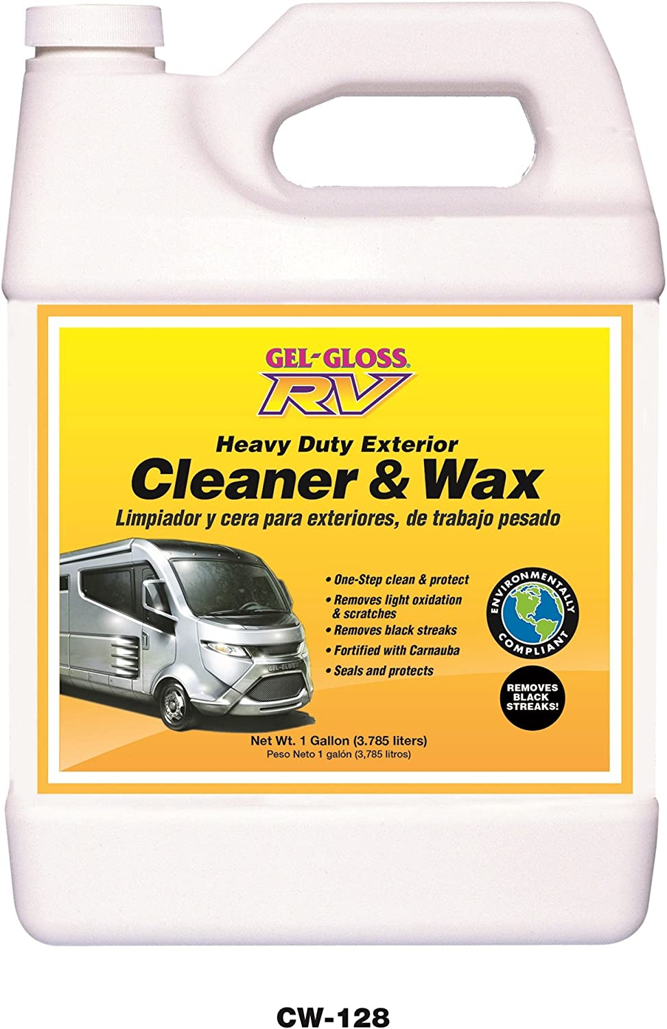 TR Industries CW-128 Gel-Gloss Special price for a limited time RV and Carnauba Max 67% OFF Cleaner with Wax