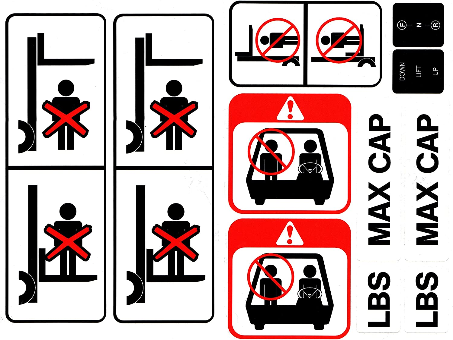 Material Handling Products Detailed w/Safety Decal Stickers for 7 ...