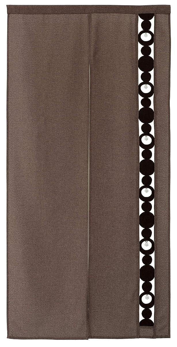共産主義信頼性のある添加剤sunny day fabric のれん ブラウン 85cm幅x170cm丈 クリスタルスキップ ロング丈