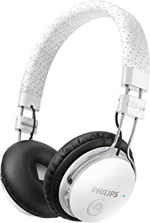 Philips SHB8000WT/00 CitiScape Foldie Wireless Bluetooth Headset Noise Isolating On-Ear Headphones (White)
