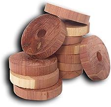 Household Essentials 14316-1 CedarFresh Red Cedar Wood Rings for Hangers - Set of 20
