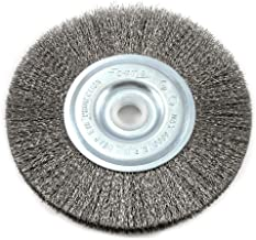 Forney 72743 Wire Wheel Brush, Fine Crimped with 1/2-Inch and 5/8-Inch Arbor, 5-Inch-by-.008-Inch
