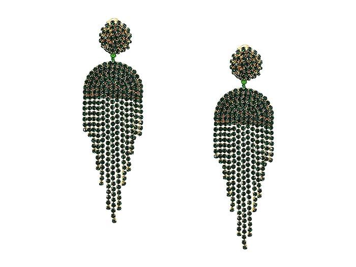 Oscar de la Renta  Waterfall Earrings (Emerald) Earring