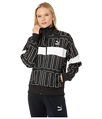 PUMA All Over Print Track Jacket (PUMA Black) Women