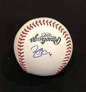YADIER MOLINA AUTOGRAPHED Hand SIGNED O.L. Baseball St. Louis CARDINALS w/COA & Cube