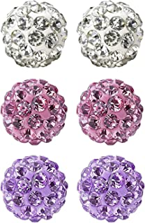 rhinestone fireball beads