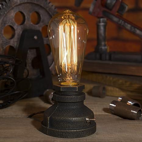 Lampada Da Tavolo In Metallo Stile Industriale Vintage Con Lampadina Edison Regolabile 12 Amazon It Illuminazione