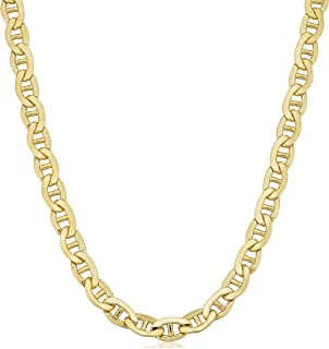 Mens 14k Yellow Gold Filled Heavyweight 7.8 mm Mariner Link Chain Necklace
