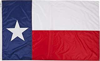 Annin Flagmakers Model 145280 Texas State Flag Nylon SolarGuard NYL-Glo, 5x8 ft, 100% Made in USA to Official Design Specifications