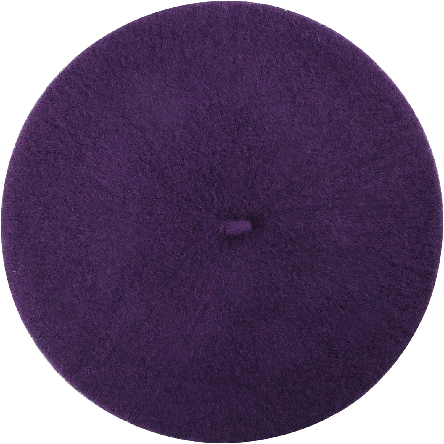 French Beret, Lightweight Casual Classic Solid Color Wool Beret