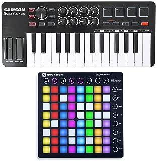 Novation LAUNCHPAD S MK2 MKII USB RGB DJ Pad +Samson 25-Key Keyboard Controller
