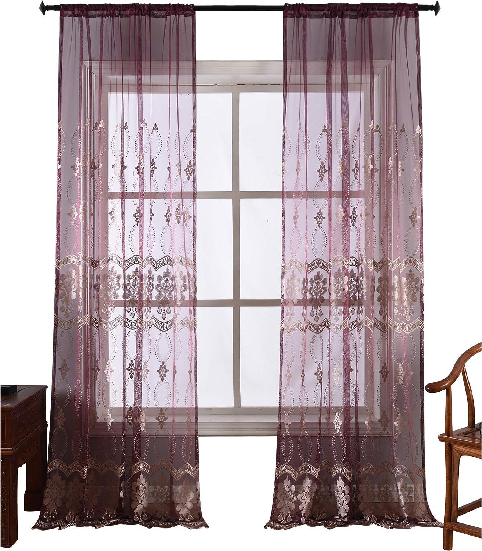 上等 BW0057 High Grade 永遠の定番モデル Fine Embroidered Sheer Window Treatmen Curtain