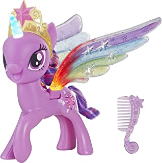 My Little Pony Toy Rainbow Wings Twilight Sparkle -- Purple Pony Figure with Lights and Moving Wings, Kids Ages 3 Years Old and Up