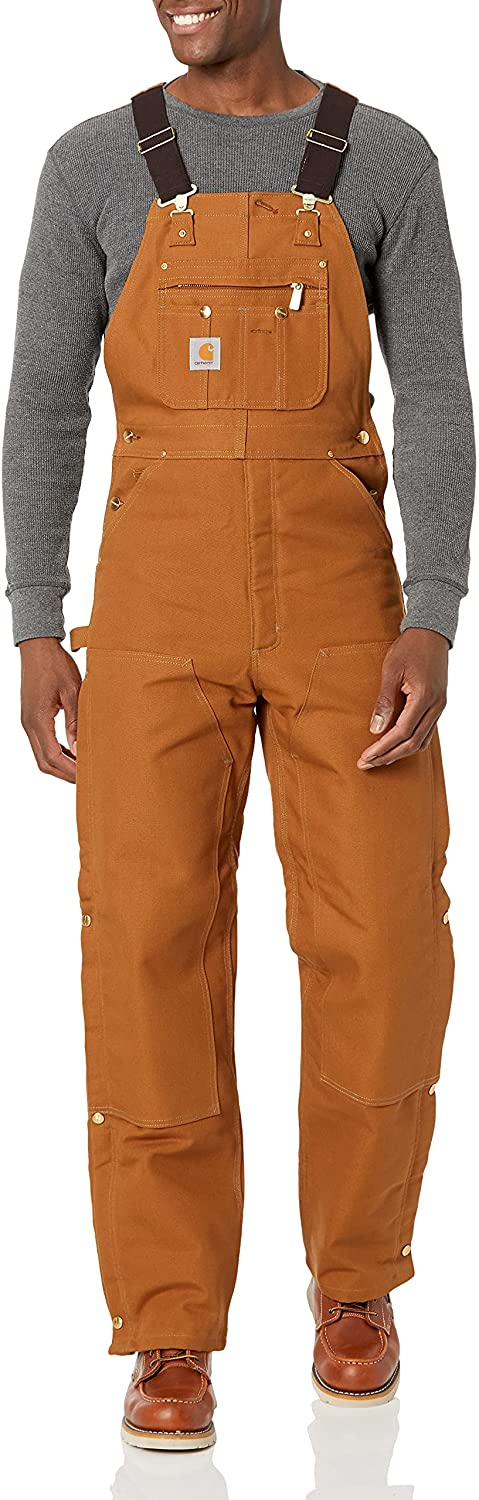 Carhartt Men's Many popular brands lowest price Quilt Lined Zip To Bib Thigh Overalls R41