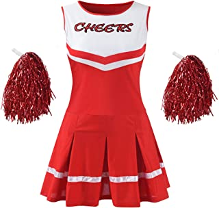 Makroyl Women's Musical Uniform Fancy Dress Complete Outfit High School Cheerleader Costume