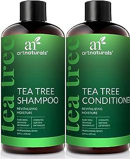 Art Naturals Juego de champú y acondicionador de aceite de árbol de té con aceite esencial de grado terapéutico para limpi...