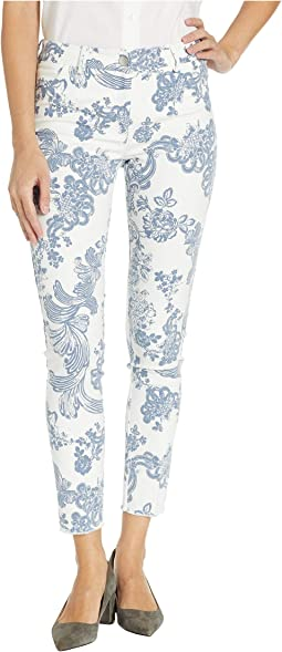 Blue Ivy Fly Front Pants with Fray Hem