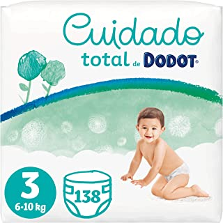 Dodot Pañales Bebé Cuidado Total Talla 3 (6-10 kg), 138 Pañales, Suave Protección de la Piel de Dodot con Ingredientes de ...