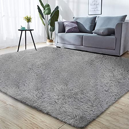 Super Soft /& Cozy High Pile Machine Washable Carpet 3 x 5 Light Pink Luxury Shag Carpets for Home Bed//Living Room Modern Rugs for Floor GORILLA GRIP Original Faux-Chinchilla Nursery Area Rug,