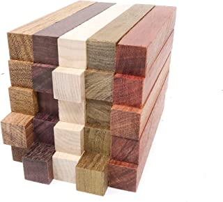 Exotic Wood Pen Blanks 25-Pack: Bloodwood, Mexican Ebony, Jatoba, Hard Maple, Ipe, 5 of Each Wood Type, 5 x 3/4 x 3/4 inches