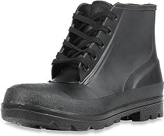 """Servus Iron Duke 6"""" PVC Polyblend Steel Toe Men's Work Shoes, Black (73104)"""