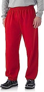 سروال رياضي رجالي من Fruit of the Loom ذو قاعدة مرنة - لون أحمر - 4XL