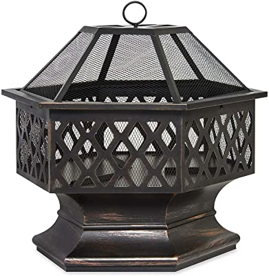"Amazon.com : ZENY 24"" Fire Pit Hex Shaped Home Garden ... on Zeny 24 Inch Outdoor Hex Shaped Patio Fire Pit Home Garden Backyard Firepit Bowl Fireplace id=99018"