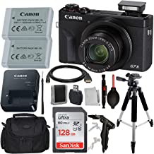 """Canon PowerShot G7 X Mark III Digital Camera with Advanced Accessory Bundle – Includes: SanDisk Ultra 128 GB SDXC Memory Card, Spare Extended Life Battery, 57""""Professional Tripod, Carrying Case & More"""