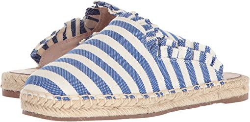 Blue/Cream Striped Canvas