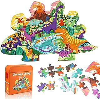 AivaToba Puzzle de Dinosaure pour Enfants, Puzzle de 105 Pièces avec de Très Grandes Pièces pour Les Enfants de 4 Ans et P...